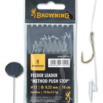 BROWNING Barbless Feeder Leader Method Push Stop bronze