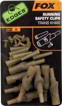 FOX Edges Running Safety Clips Trans Khaki x 8