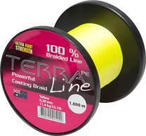 James Cook Terra PE Line 0,16mm 2000m yellow 7,7kg, geflochtene Angelschnur