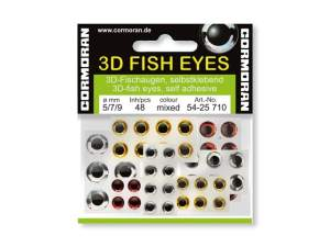 CORMORAN 3D Fish Eyes silber/rot/gold 5/7/9mm 4st8