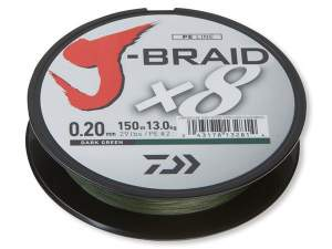 Daiwa J-Braid X8 dark green 0.10mm 7.0kg 150m