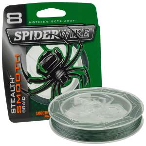Spider Wire Stealth Smooth 8 Moss Green 0,25 mm 300 m, geflochtene Angelschnur