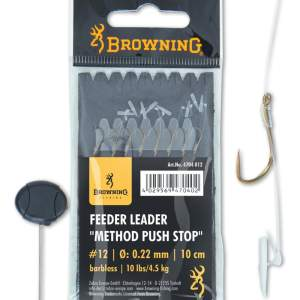 BROWNING 12 Feeder Leader Method Push Stop bronze 10lbs 0,22