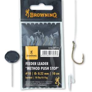 BROWNING 10 Feeder Leader Method Push Stop bronze 10lbs 0,22