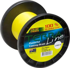 James Cook Terra Line 0,14mm 1000m fluo-yellow 7,3kg