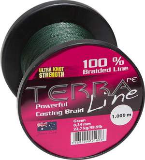 James Cook Terra PE Line 0,30mm 1000m green 18,2kg