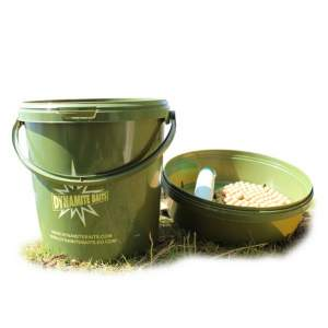Dynamite Baits 11ltr Carp Bucket with Tray Promo Bucket 11 ltr