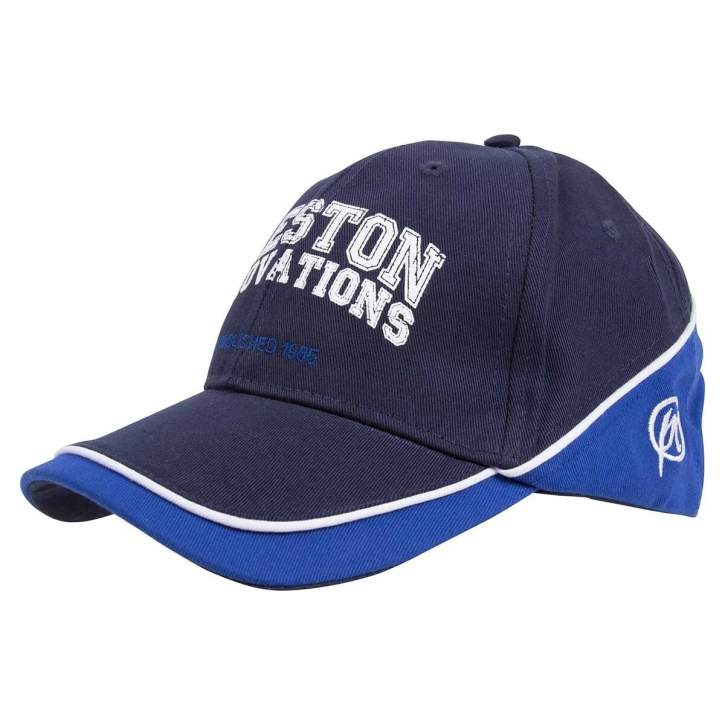 Preston  Blue Cap With Blue & White Piping