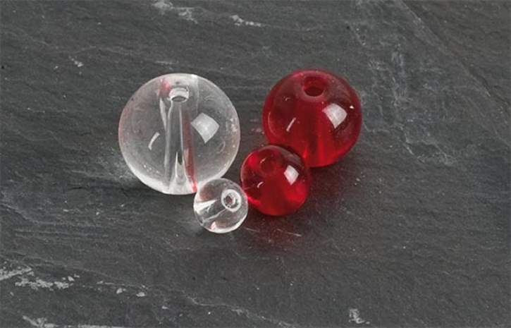 IC Class Beads red 6mm