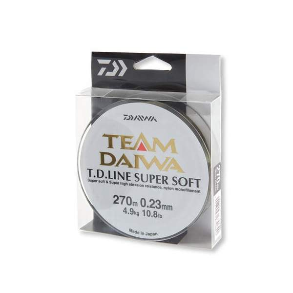 Daiwa Team  TD Super Soft clear 0.30mm 8.6kg 270m, monofile Angelschnur